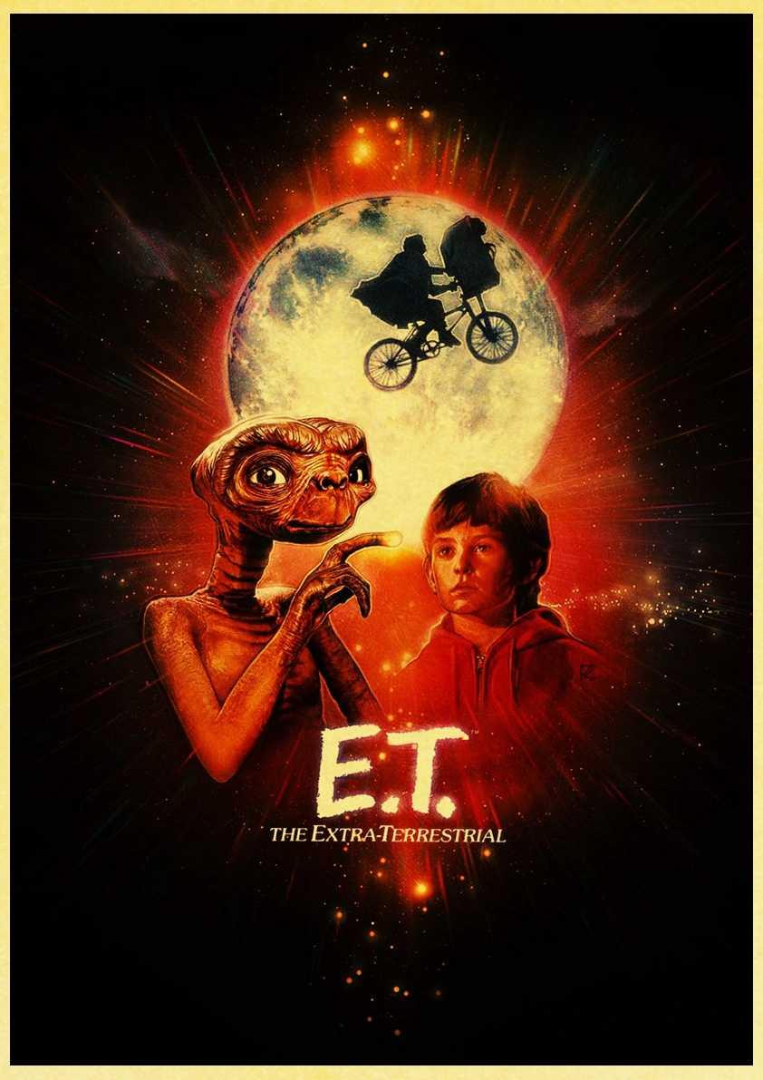 E.T. /לסתות/את Termina/פרק יורה שפילברג סרט פוסטרים רטרו קיר פוסטרים אמנות מודפס ציור קיר מדבקות