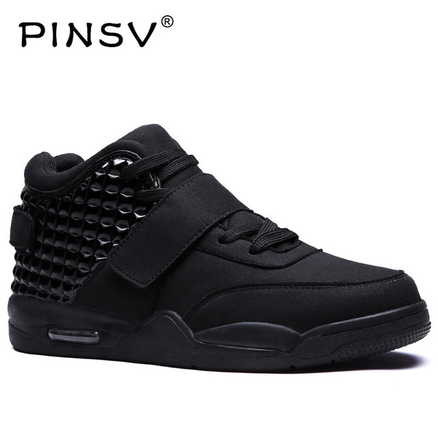 Pinsv High Top Sneakers Mens Shoes Casual White Shoes Men Footwear