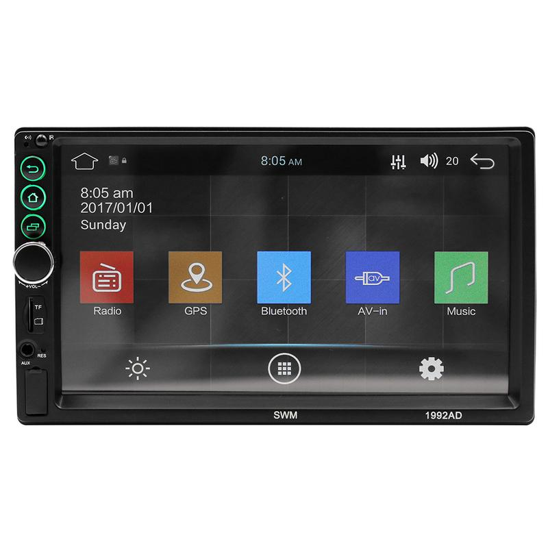 7 Inch High-Definition Touch Large Screen Car Bluetooth Mp5 Player Car Double Spindle for GPS Navigation Radio Player DVD chimole a910 high quality high power 300w 9 inch high definition display dvd player portable square speakers