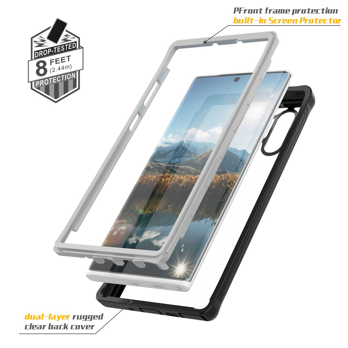 For Samsung Galaxy Note 10 Plus Case 360 Degree Protection Daily Life Waterproof Shockproof Cover for Samsung Note 10 Case in Fitted Cases from Cellphones Telecommunications