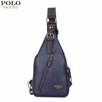 VICUNA POLO Famous Brand Theftproof Magnetic Button Open PU Leather Men S Chest Bag Stylish Casual