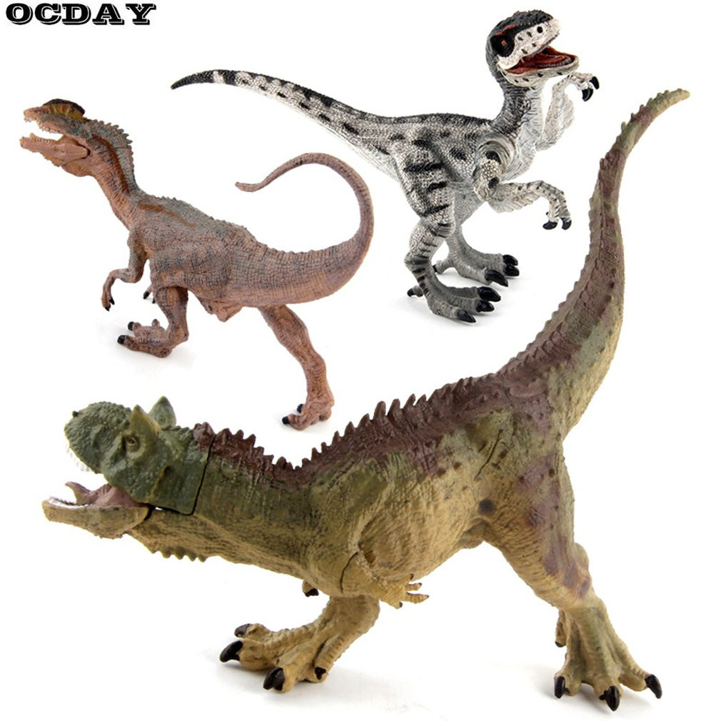 OCDAY Kids Lifelike Dinosaur Model Toys Kits Plastic Simulation Jurassic World Park Tyrannosaurus Action Figures Children Toys the dinosaur island jurassic infrared remote control electric super large tyrannosaurus rex model children s toy