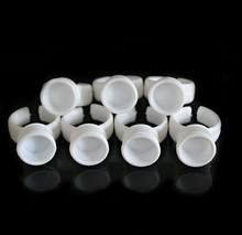 100pcs Medium Permanent Makeup Disposable Finger Easy Ring Ink Holders/Cups Container Tattoo Supplies