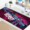 Игровой коврик для мыши CSGO  коврик для мыши XXL с большим закругленным краем  резиновый противоскользящий коврик для мыши Hyper Beast  игровой ковр...