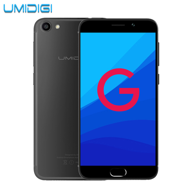 umidigi G Original Phone Android 7.0 Smartphone  2G RAM 16G ROM  4G Lte Touch ID Dual Sim 5'' HD Quard Core Cell Mobile Phone