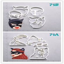 Catwoman Design Cookie Cutter Set Custom Made 3D Printed Fondant Cupcake Kitchen Accessories