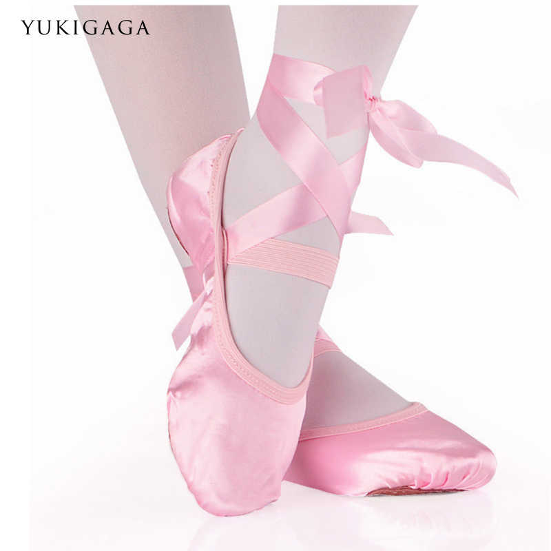 a4d1 Comemore Girls and adult ladies ballerina professional ballet shoes  dance shoes with ribbon women's shoes
