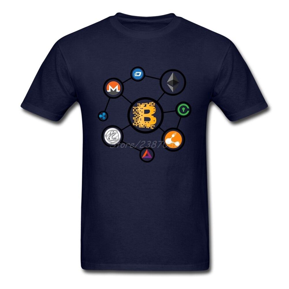 Bitcoin Litecoin тире эфириума Monero пульсация футболка XXXL заказ короткий рукав футболки в уличном стиле с О-образным вырезом хлопковые футболки Homme