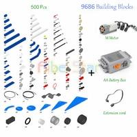 Aibei Star Technic compatible Legoes 9686 DIY Building Block parts.Motor Battery Box Aid Set For Technology Legoing MOC 9686.