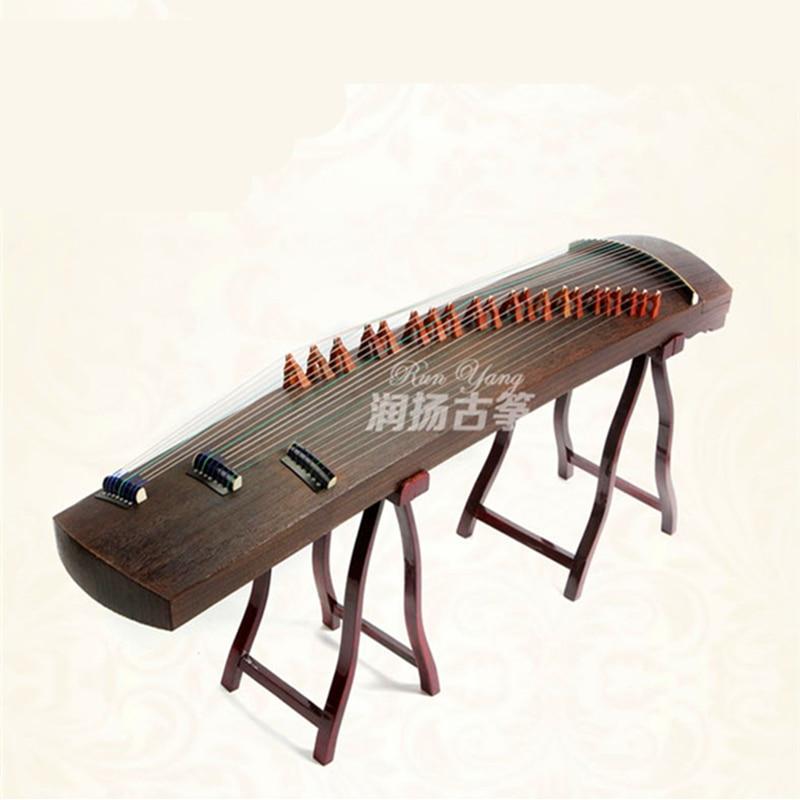 Performance professionnelle de paulownia Pure naturelle chine Guzheng Instrument de musique cithare 21 cordes avec accessoires complets
