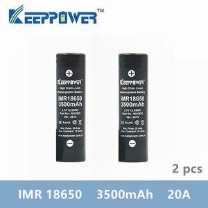 Image 1 - מקורי 2 Pcs KeepPower IMR 18650 סוללה IMR18650 3500mAh 3.7V מקסימום 20A פריקה גבוהה כוח סוללה NH1835 drop חינם