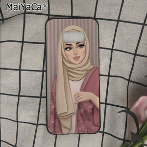 Image 3 - Muslim Islamic Gril Eyes Woman In Hijab Face phone Case For Samsung Galaxy s9 s8 plus note 8 note9 s7 s6edge cases Babaite