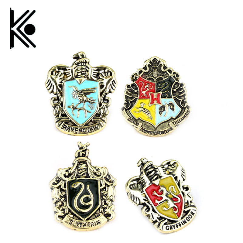 7 kinds of style hogwarts badge jewelry Brooch Badge Ravenclaw Hogwarts Slytherin Hufflepuff in cool gift Children gift