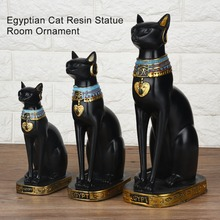 Egyptian Cat Resin Statue Figurine Household Room Ornament Crafts Gifts Home Decoration New