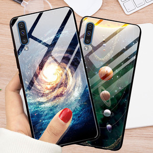 Чехол из закаленного стекла для Samsung A50 A 50, жесткий чехол-накладка для Samsung Galaxy A51 A50, 2019, A71, чехлы-бампер из ТПУ