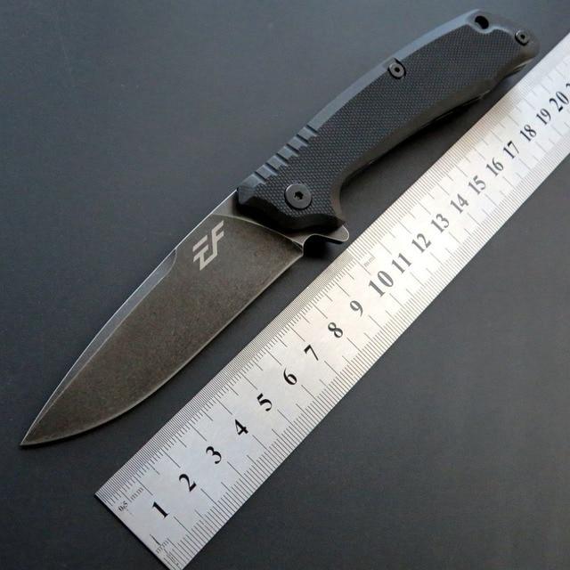 Eafengrow חדש סגנון EF223 מתקפל קמפינג סכין D2 פלדת להב G10 ידית חיצוני טקטי סכיני EDC יד כלים