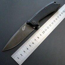 Eafengrow couteau de Camping pliant EF223 lame en acier D2 couteaux tactiques dextérieur, manche G10, outils à main EDC