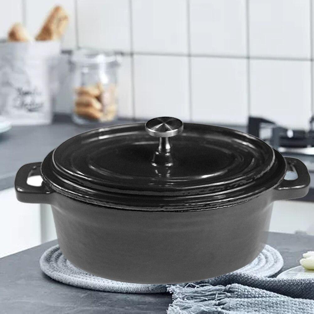 Голландские печи Эмалированные чугунные покрытые кастрюли Овальный Мини горшок Panela кухонная посуда Ollas De Cocina