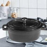 Dutch Ovens Enameled Cast Iron Covered Casserole Oval Mini Pot Panela Cooking Pot Cookware Ollas De Cocina
