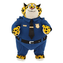 cartoon leopard plush toy 35 cm police officer leopard doll birthday present Xmas gift c839