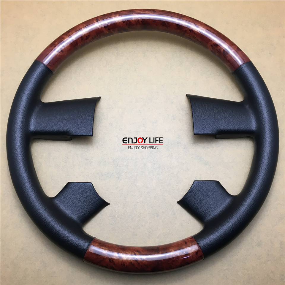 ФОТО 1pc ABS Wood Color Car Steering Wheel Cover Trim For Ford F-Series F-150 F150 11th Gen. 2005-2007