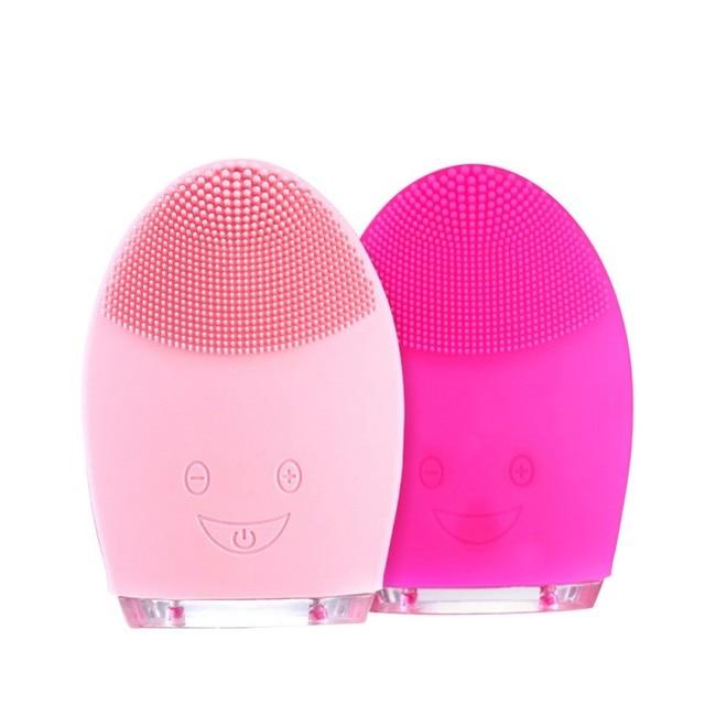 Eléctrica de silicona limpiador de la cara aparatos Blackhead eliminación de acné máquina de lavado Facial poro de limpieza cuidado de la cara