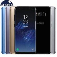 Оригинальный Samsung Galaxy S8 плюс 4 г LTE Octa Core мобильный телефон 4 г Оперативная память 64 г Встроенная память 6.2» 12.0MP отпечатков пальцев 3500 мАч смартфон
