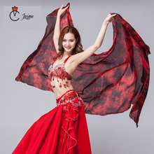 100% silk veil Dyeing Women Dance wear Silk Colored Scarf Light Texture Belly Accessories Veils Tie Dye