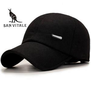 be34967ca114d SAN VITALE Baseball Cap Men Winter Dad Hat Polo Casual