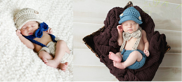 4aadaa8a9 3pcs Baby Clothes Boys Girl Ropa de Bebe Newborn Photography Props Infant  Kids Hat+Bow