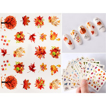 T-TIAO CLUB 1 Sheet Mixed Design Nail Art Sticker Colorful Animal Flower Water Decal Slider Wraps Decor Manicure