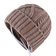 Winter Hat men Beanies Solid Color bonnet Knitted Wool Soft Beanie Double layer plus thick velvet Cap Women hats Gorros Men Caps