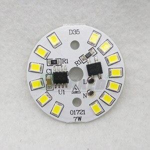 Image 5 - Светодиодная плата 220 В 7 Вт Dia35mm SMD2835 630lm, светодиодный модуль, алюминиевая лампа с интеллектуальной платой IC, драйвер, лампочка, панель, Dowlight источник теплого/белого света