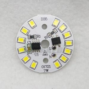 Image 5 - 220V LED PCB 7W Dia35mm SMD2835 630lm Module Led Đèn Bằng Nhôm Tấm Với IC Thông Minh Điều Khiển Bóng Đèn Pannel dowlight Nguồn Ấm/Trắng
