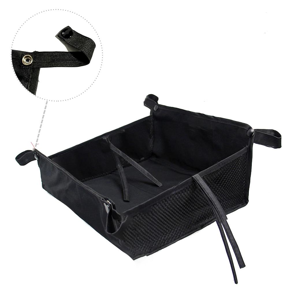 Уличная Нижняя корзина для дома, повседневный органайзер для детской коляски, большая вместительность, сумка для хранения коляски, аксессуары для покупок - Цвет: Черный