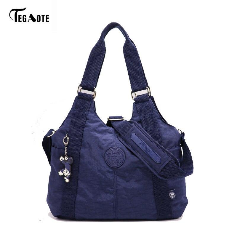TEGAOTE Women Shoulder Bags Handbag Female Causal Totes Shopping Nylon Bag Crossbody Messenger Bags Women Bag Bolsos Sac A Main