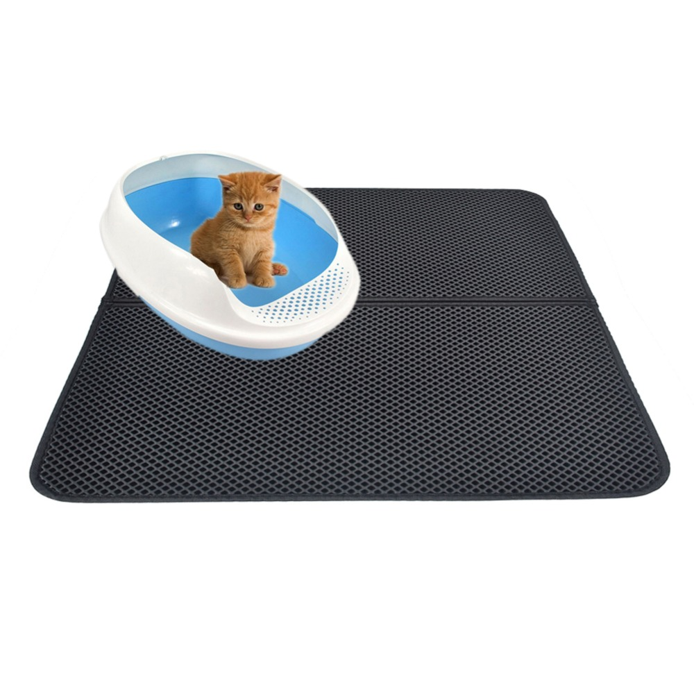 Waterproof Pet Cat Litter Mat Eva Double Layer Cat Litter Trapping Pet Litter Cat Mat Clean Pet Products For Cats Accessories (6)