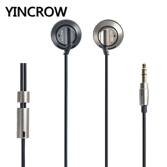 Original YINCROW RW-777 In-ear Earphones Flat Head Earphone Earbuds Professional HIFI Metal Headset original senfer dt2 ie800 dynamic with 2ba hybrid drive in ear earphone ceramic hifi earphone earbuds with mmcx interface