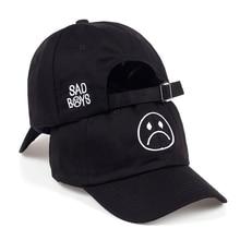 Gorra de béisbol de cara de llanto ajustable TUNICA para niños y niñas gorra  de béisbol Hip hop negra Harajuku Skateboard sombre. b6b7930877c