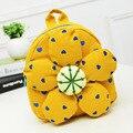 O mais baixo preço mochila crianças bonito flor do sol do bebê bolsa de ombro schoolbag minin linda bolsa escola dos miúdos do jardim de infância lanche saco