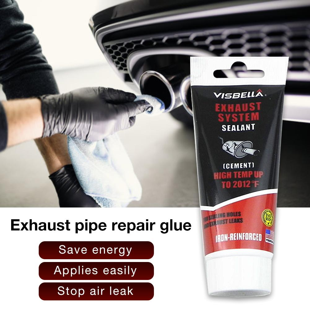 Car Exhaust System Pipe Repair Kit High Temperature 1100C Cement Crack  Sealer Tailpipe Muffler Repair Adhesive Sealant