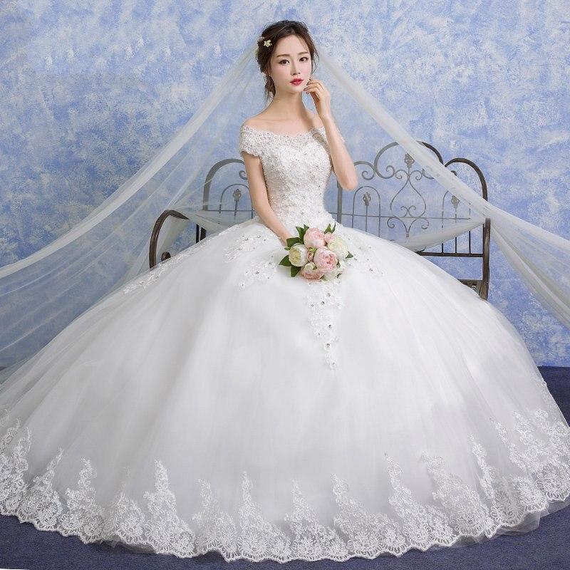 Vestido De Noiva V Neck Lace Ball Gown Wedding Dresses 2019 Cap Sleeve Embroidery Beaded Vintage Bridal Gown Plus Size