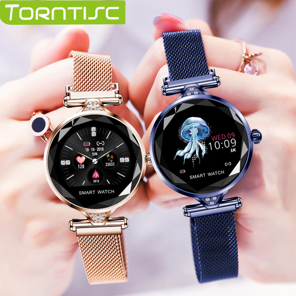 Torntisc Luxury Smart Watch Women Waterproof Ladies Fashion Smartwatch Heart Rate Fitness Tracker for Android IOS