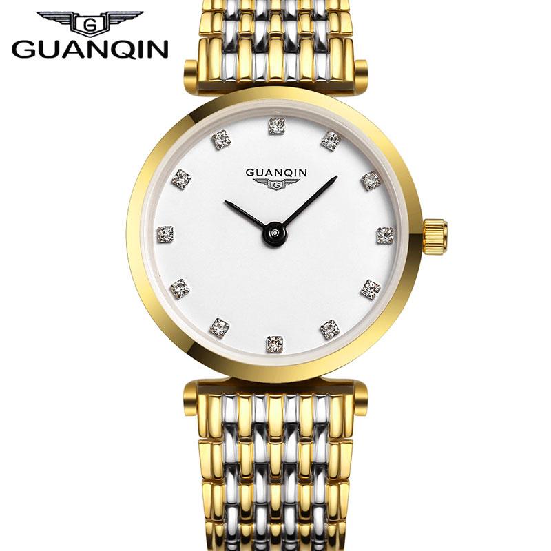 Brand GUANQIN Women's Quartz Watches Women Fashion Luxury Watch Waterproof Vintage Style Ladies Gold Wristwatches