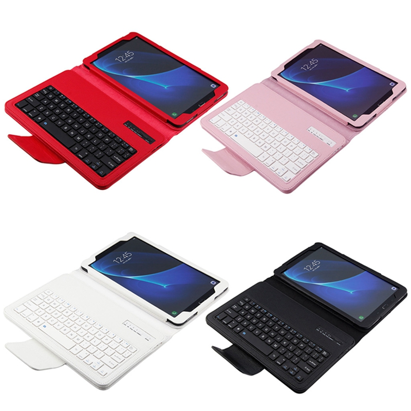 OOTDTY New 4 Color Bluetooth Keyboard Folio Case Cover for Samsung Galaxy Tab A 10.1 T580 Series laptop keyboard for hp for envy 4 1014tu 4 1014tx 4 1015tu 4 1015tx 4 1018tu backlit northwest africa 692759 fp1 mp 11m6j698w