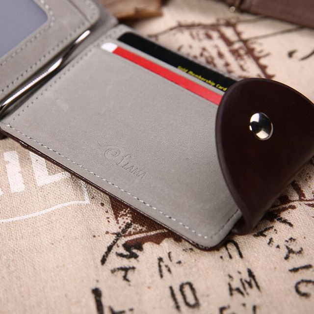 Men's Leather Clip Wallet