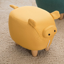 Free Shipping Cute Cartoon Pig Stool Creative Personality Animal Shoes Bench Home Living Room Furniture Chair Ottomans Sofa(China)
