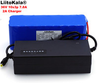 LiitoKala 36V 7.8Ah 10S3P 18650 pack de batería recargable modificado bicicletas del Vehículo Eléctrico 36V Protección PCB + 2A cargador