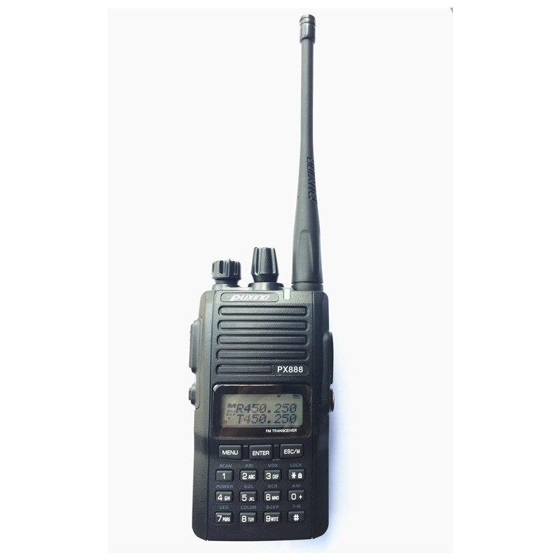 PUXING PX 888 Handheld Two Way Radio 5W Walkie Talkie with Scrambler and FM Radio Keypad