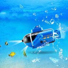 Четырехканальная игрушечная подводная лодка модель мини RC Гоночная подводная лодка с дистанционным управлением игрушки подарок ребенку на день рождения Рождество Gif